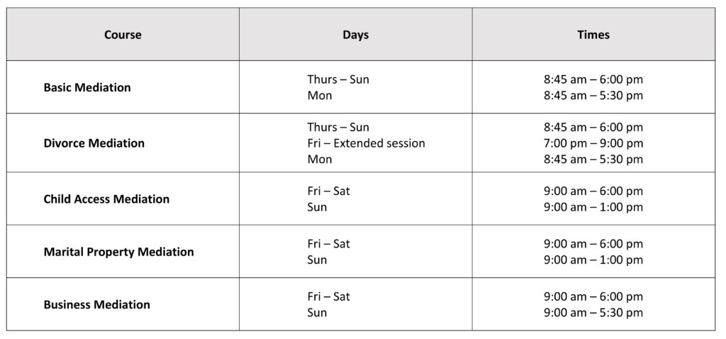 Course Hours